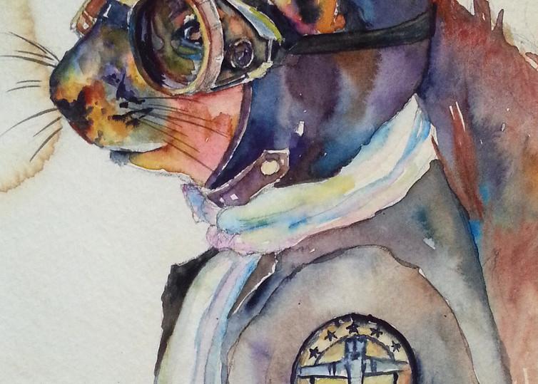 Ace Flying Squirrel Steam Punk Art   Christy! Studios