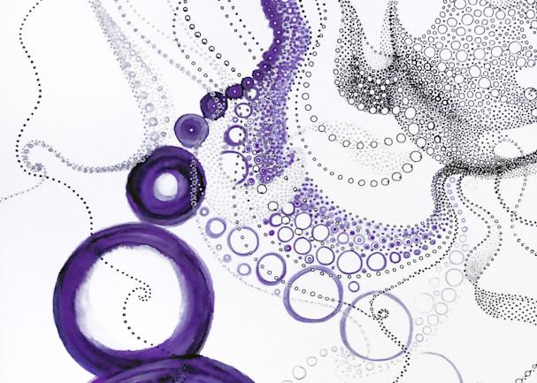 Maria's Circles 1   Purples Art | Artist Rachel Goldsmith, LLC
