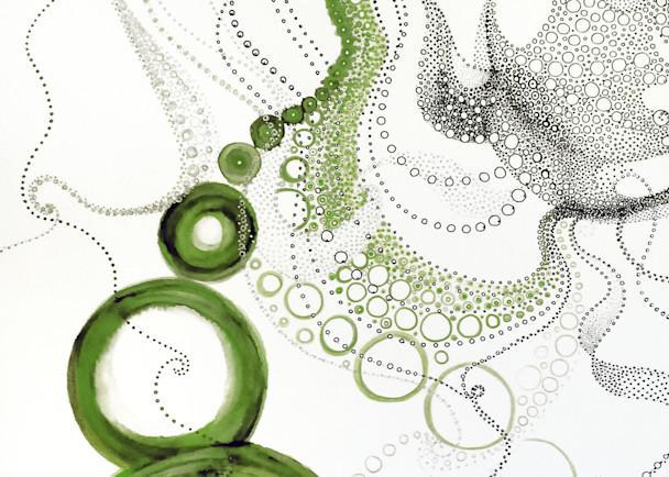 Maria's Circles 1    Greens Art | Artist Rachel Goldsmith, LLC