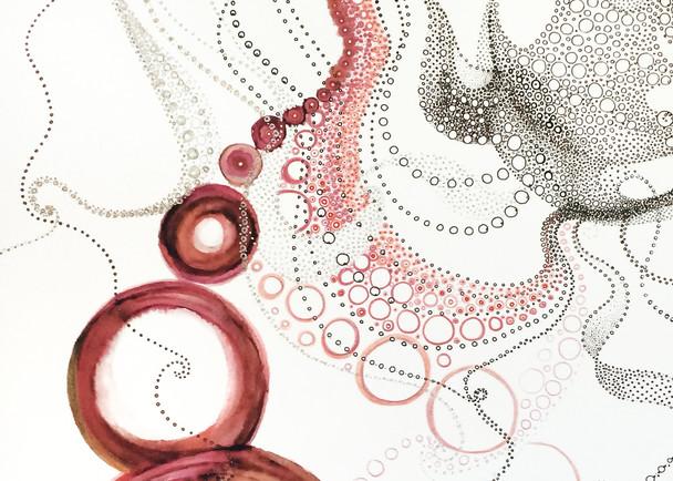 Maria's Circles 1   Reds Art | Artist Rachel Goldsmith, LLC