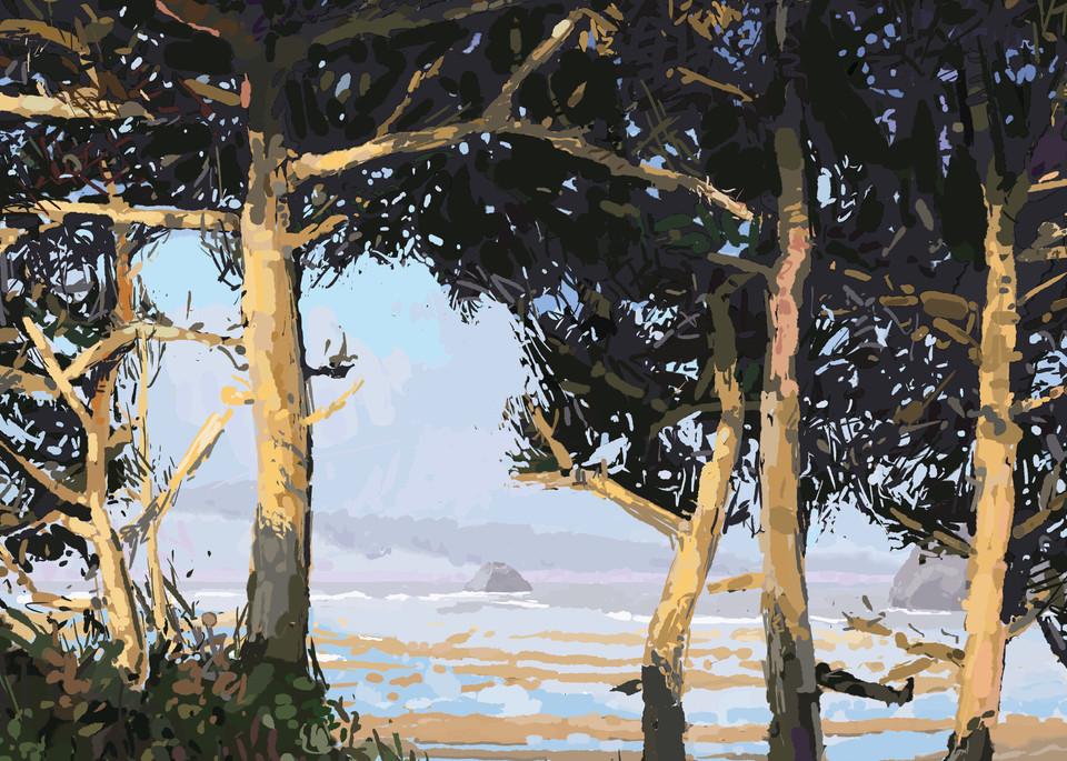 Cypress Pines At Dusk  Art | Artofandrewdaniel