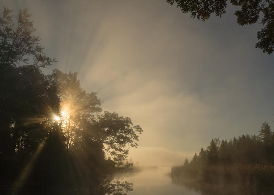 Foggy Sunburst, Huron River