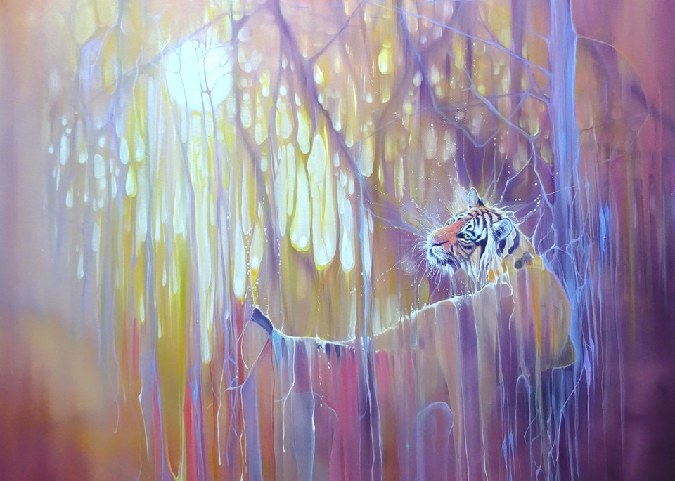 prints on canvas or paper of the painting Tiger Soul