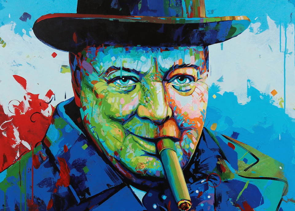 Known By The Surname Churchill, Marnier, Art, Acrylic Painting