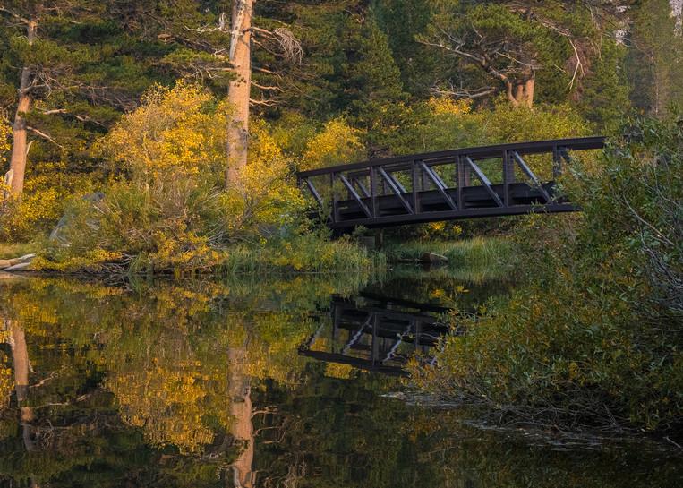 Bridge Over Tranquil Water Photography Art | Leiken Photography