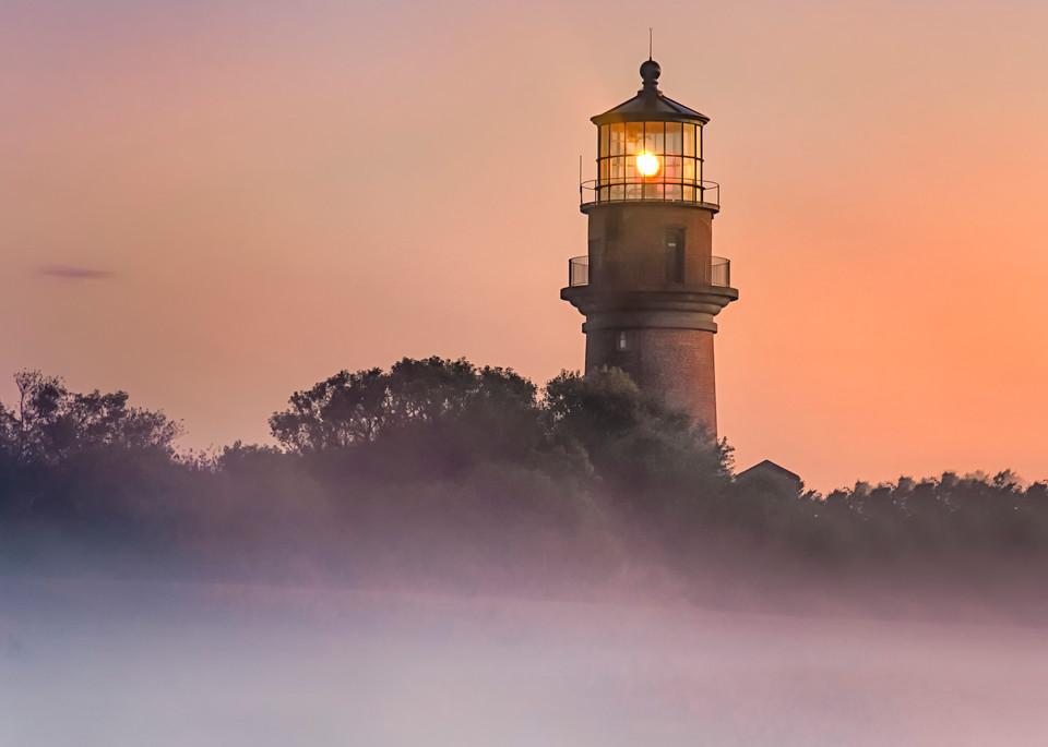 Gay Head Light Fog Sunrise Art | Michael Blanchard Inspirational Photography - Crossroads Gallery