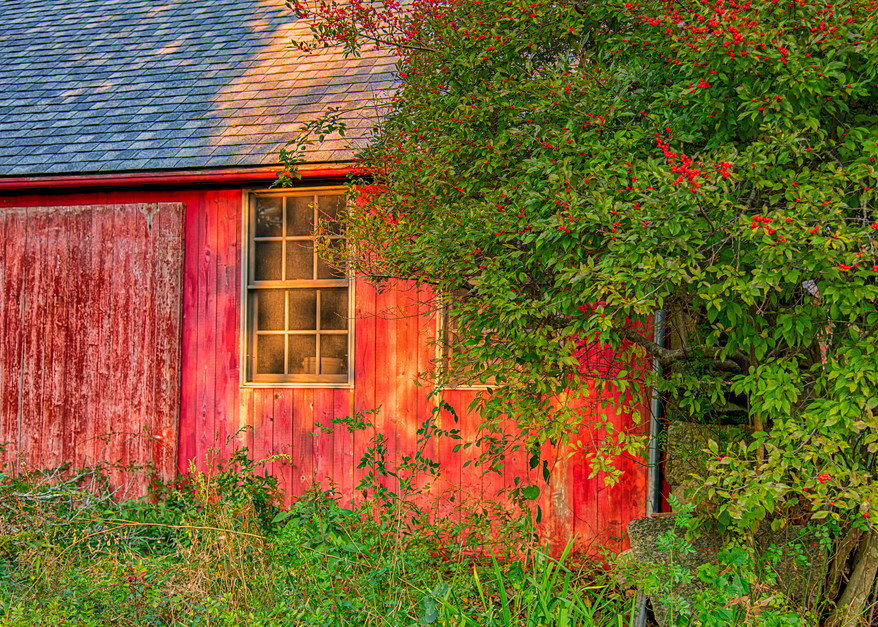 Middle Road Fall Barn Art | Michael Blanchard Inspirational Photography - Crossroads Gallery