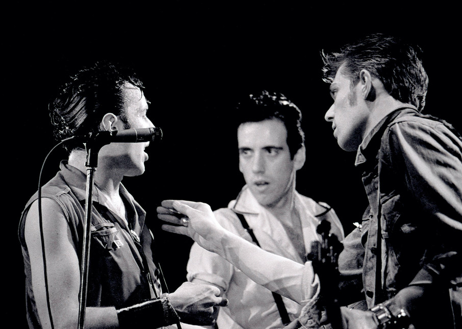 Joe Strummer, Paul Simonon & Mick Jones of The Clash at The Lyceum
