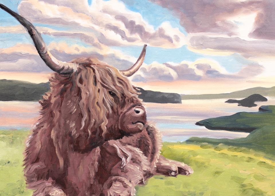 'Highland Cow II' Art for Sale