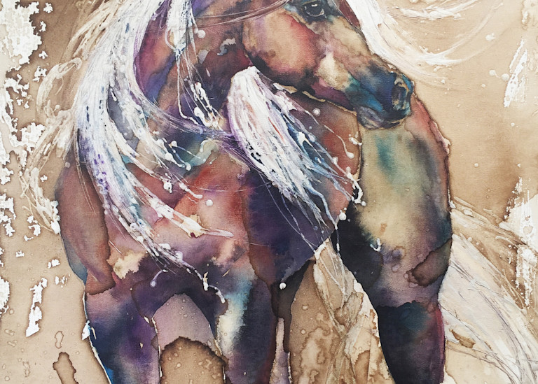 Chestnut Horse With Flaxen Mane And Tail Art | Christy! Studios