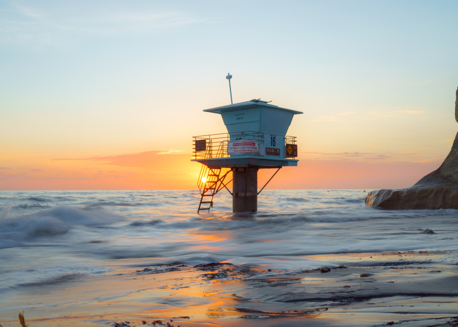 Moonlight Beach, Encinitas Sunset Wall Art Print by McClean Photography