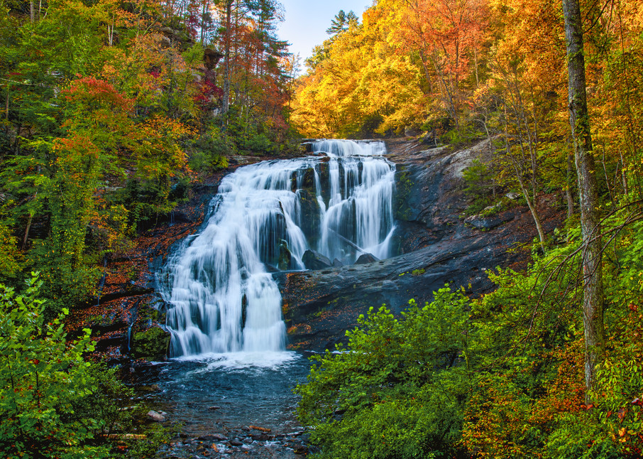 Autumn at Bald River Falls - Smoky Mountains waterfalls fine-art photography prints