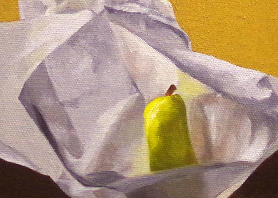 Pear In Hiding Art | Helen Vaughn Fine Art