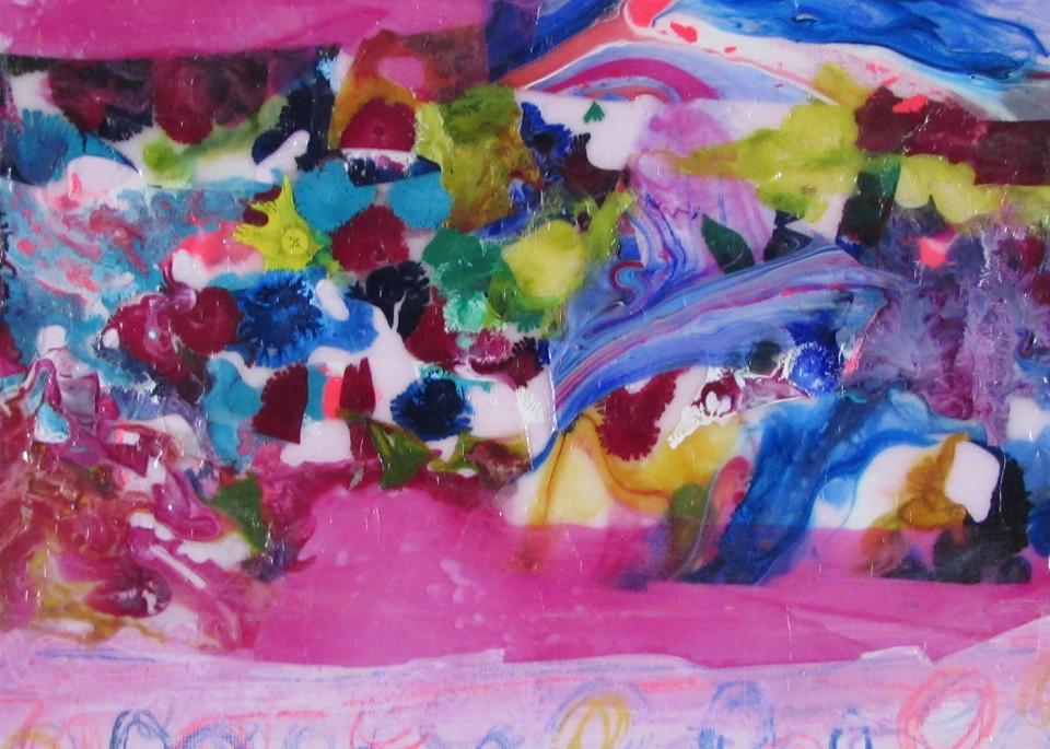 Abstract In Pink 2 Art | Linda Sacketti