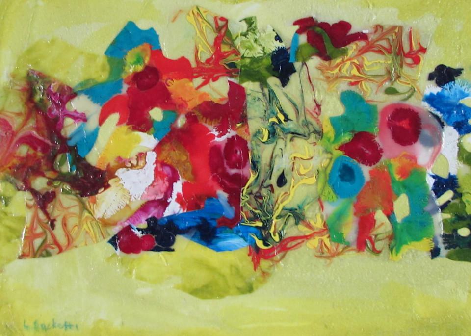 Abstract In Yellow 2 Art | Linda Sacketti