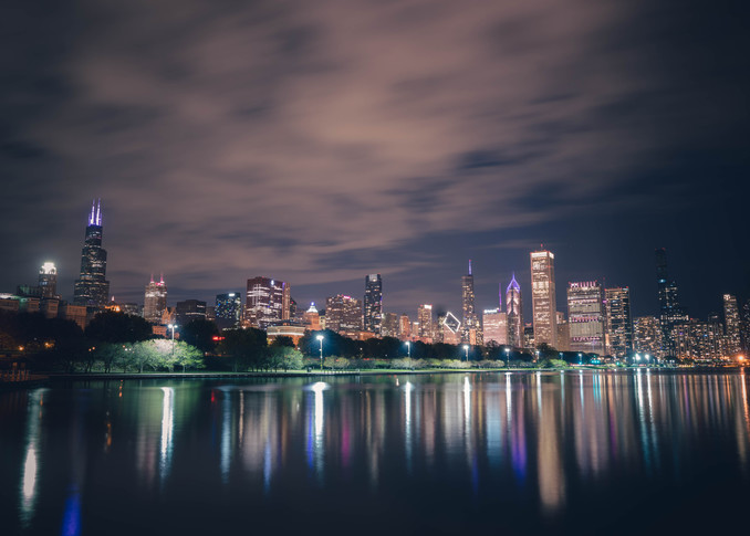 October Nights In Chicago Photography Art | William Drew Photography