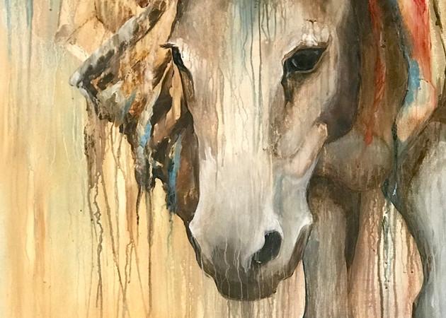 Brooke Donkey Fine Art Print | Tammy Tappan Art