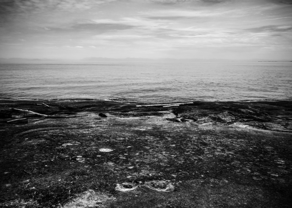Stone Shore B&W Art | James Alfred Friesen