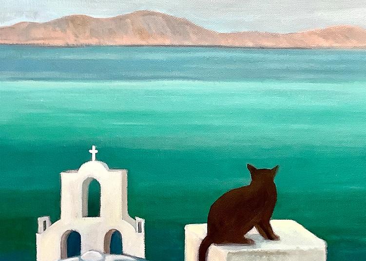 Santorini Dreaming Romantic Landscape Fine Art Print