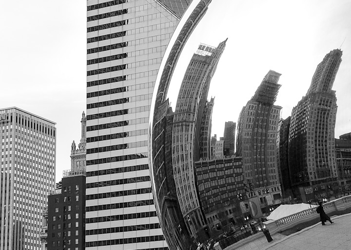 The Bean Chicago Photography Art | The World in Black and White