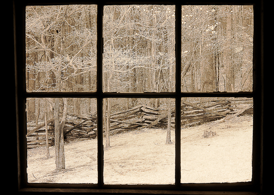 Window View Tennessee 1 Photography Art | The World in Black and White