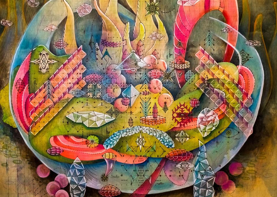 Geometric Bouquet Art | Clarridge Art, LLC