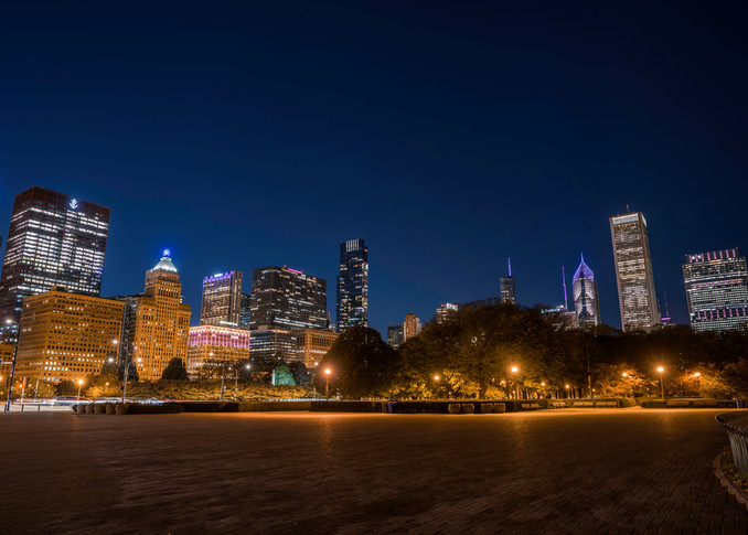 Chicago Skyline In October Photography Art | William Drew Photography