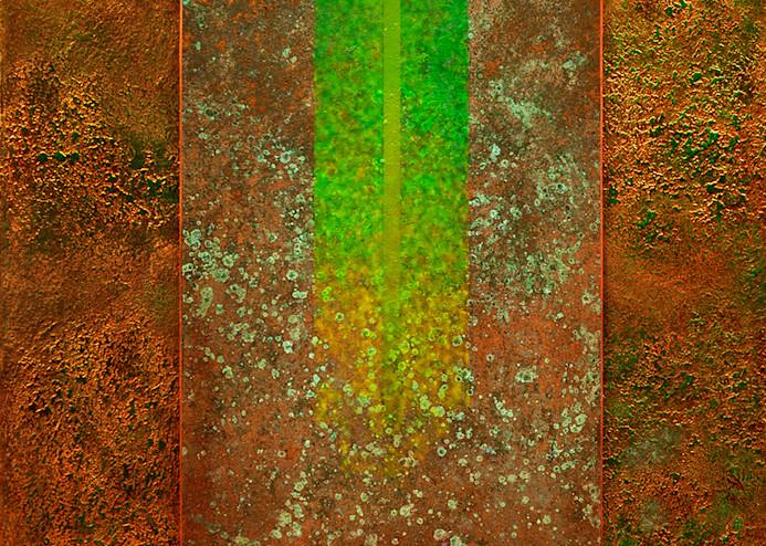 15 Golden Rayes With Green 05 Asf  Art   Meta Art Studios