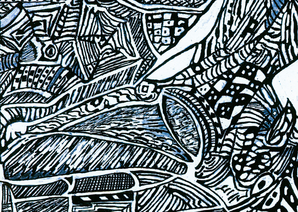 Blues Scale Series #4 Art   Aldo Borromei