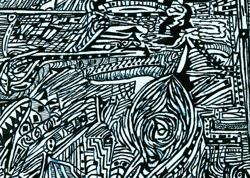 Blues Scale Series #7 Art | Aldo Borromei
