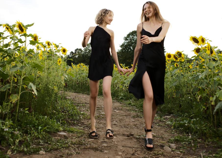 Two Flowers Among Sunflowers Photography Art | LenaDi Photography LLC