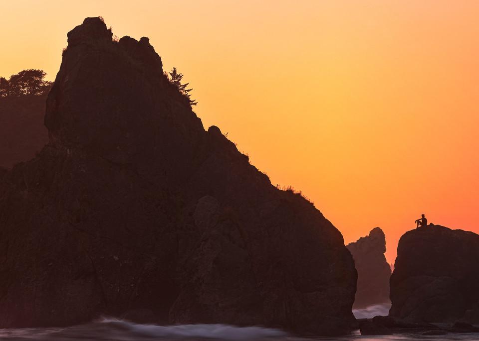 Sunset Thinker at Ruby Beach Photographic Print