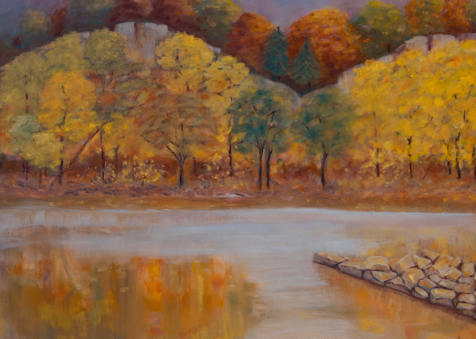 Autumn On The Missouri River Art   Wild Ponies creations