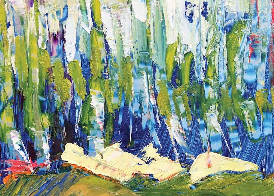 Lavelle Fine Artist | Trees In Blue