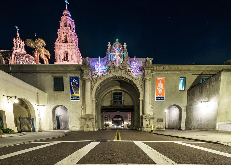 Balboa Park, San Diego Entrance At Christmas Fine Art Print Art | McClean Photography