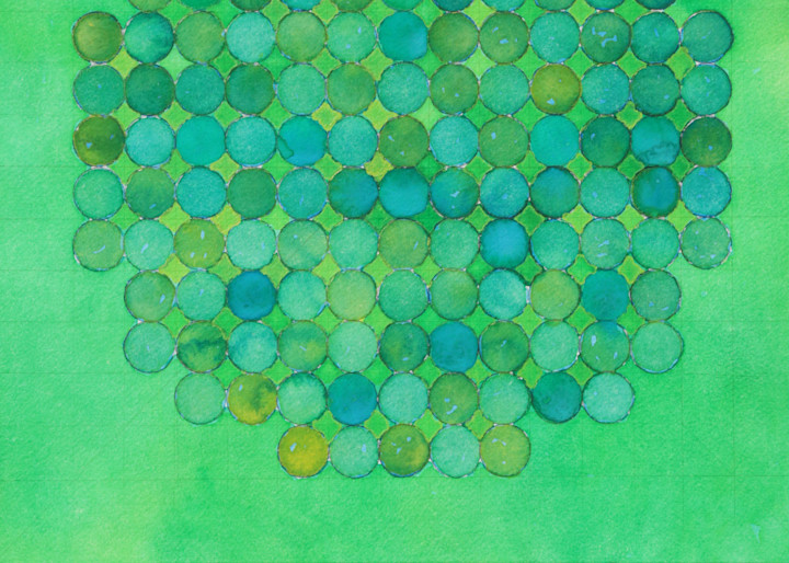 Circle Circle, Green On Green Ii Art | Courtney Miller Bellairs Artist