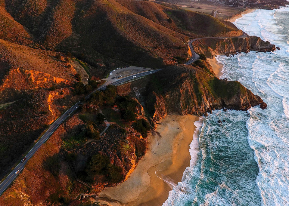 Gray Whale Cove State Beach Pacific Coast Highway California