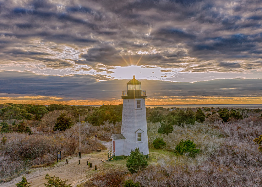 Cape Poge Light Sunset Clouds Art | Michael Blanchard Inspirational Photography - Crossroads Gallery