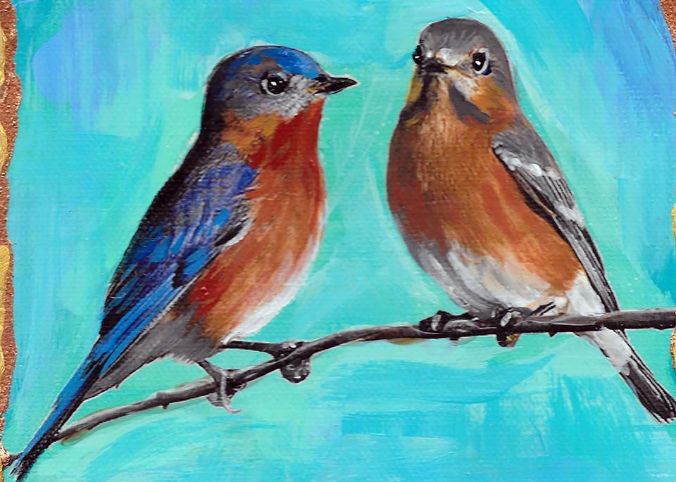 Eastern Bluebird Couple Art | Channe Felton Fine Art