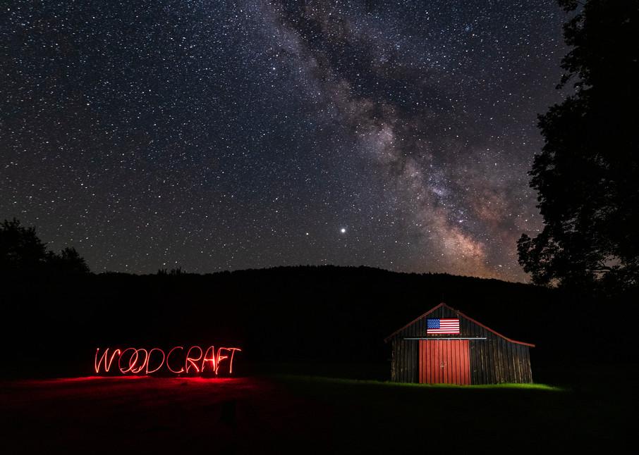 Camp Woodcraft Barn With Name Photography Art   Kurt Gardner Photogarphy Gallery