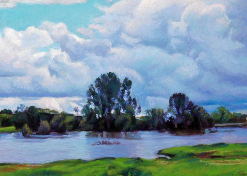 Horseshoe Lake In Clouds Art | Waif Mullins Art