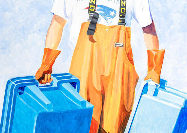 Captain Kyle Nelson, Pigeon Cove Lobsterman Art   capeanngiclee