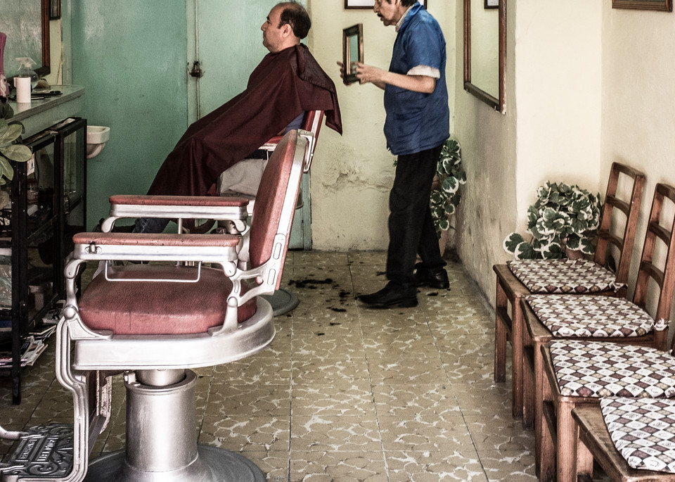 Barber El Peluquero Photography Art | Harry John Kerker Photo Artist
