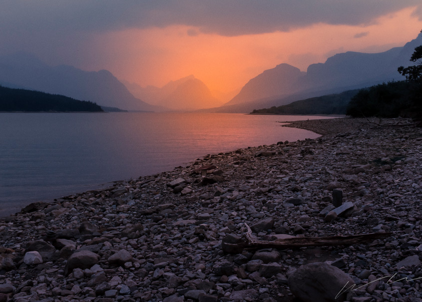 Lake Mary's Fire Photography Art | Harry John Kerker Photo Artist