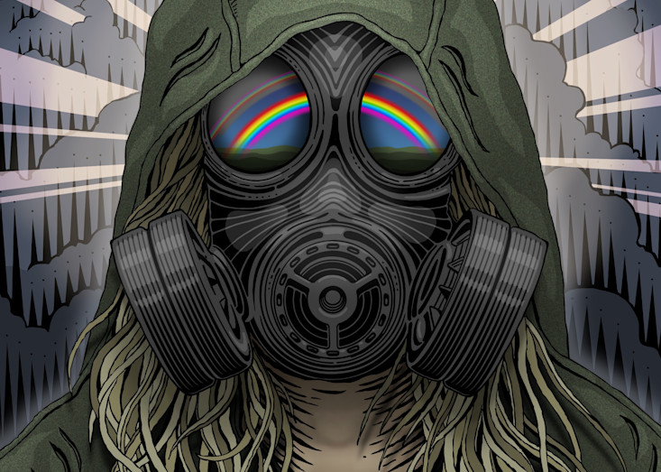 Gas Mask Rainbow