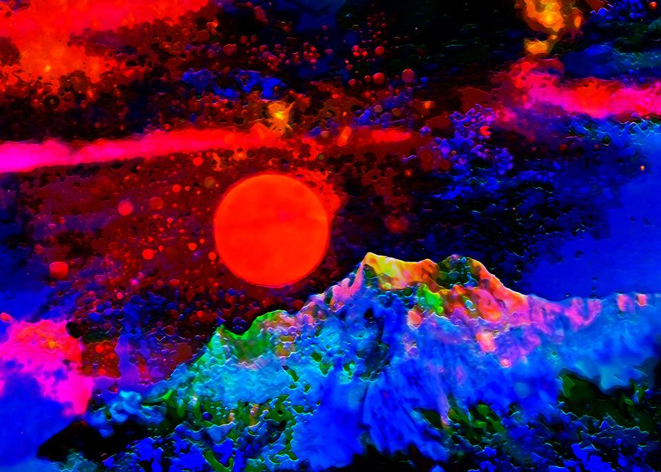 Red Moon Planet Art   Don White-Art Dreamer