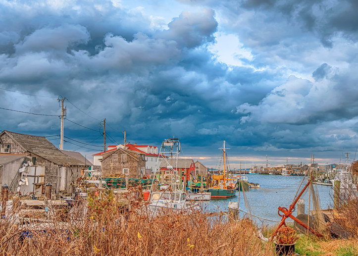 Menemsha Fall Storm Clouds Art | Michael Blanchard Inspirational Photography - Crossroads Gallery