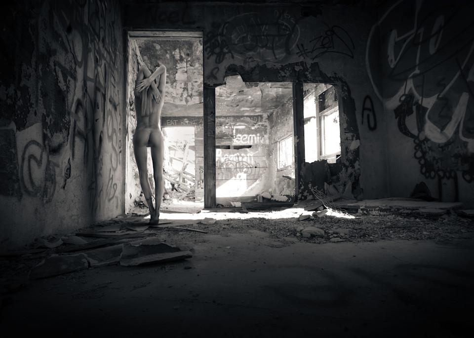 Alina In Abandoned Shack Photography Art | Dan Katz, Inc.
