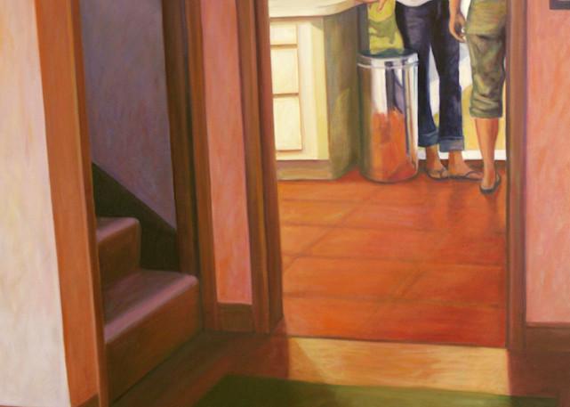 Two Young Women By The Patio Door Art | Lidfors Art Studio