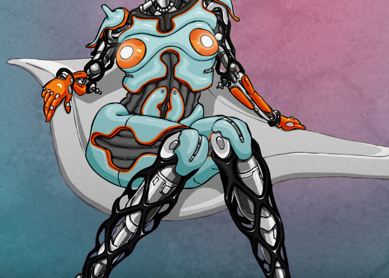 Gulf-bot in Fancy Levitating Chair